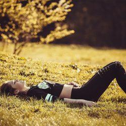 girl lying on the grass, girl, legs